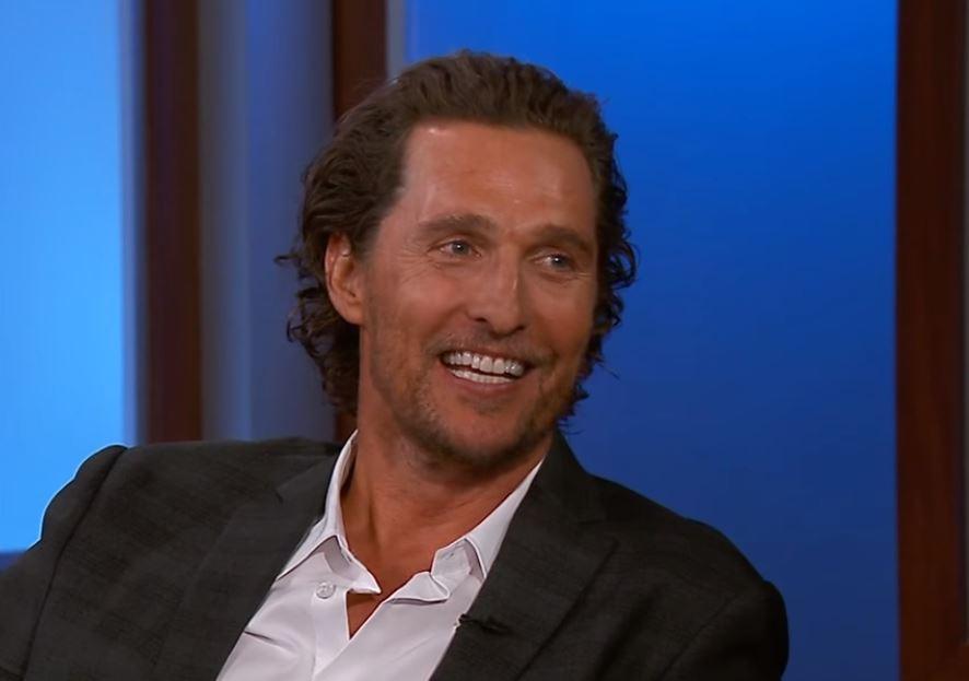 Matthew McConaughey giving an interview