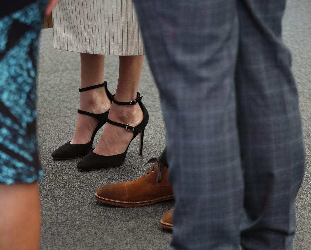 Meghan Markle shoes closeup