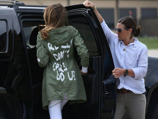 Melania Trump in jacket