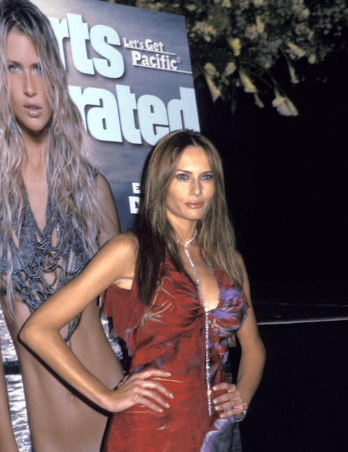 Melania Trump at the Sports Illustrated party.