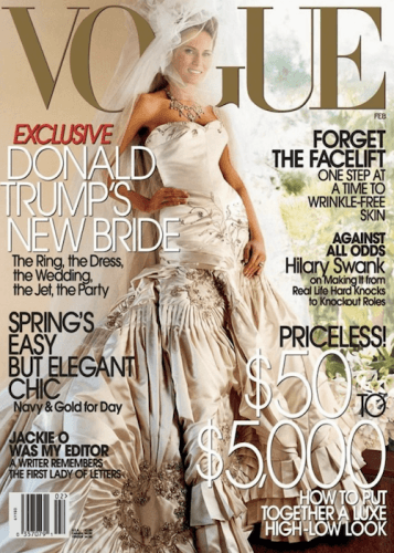 Melania Trump on the cover of Vogue magazine.