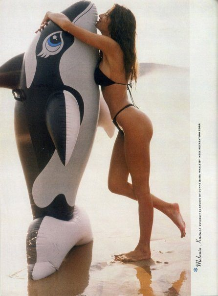 Melania trump modeling whale