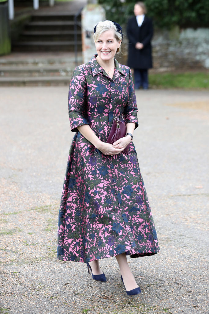 Sophie, Countess of Wessex attends Christmas Day Church service