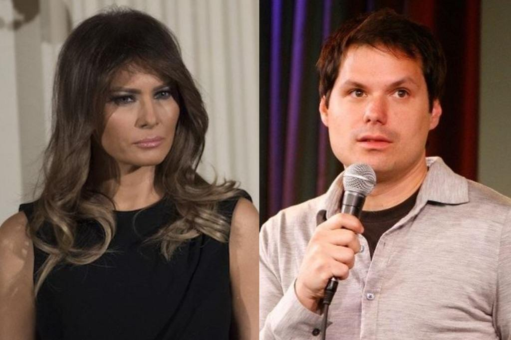 Melania Trump and Michael Ian Black