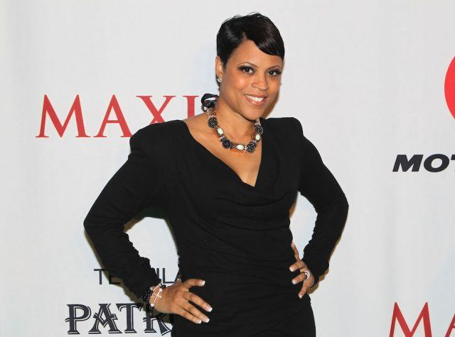 TV personality Shaunie O'Neal poses with Motorola Xoom at the Maxim Party