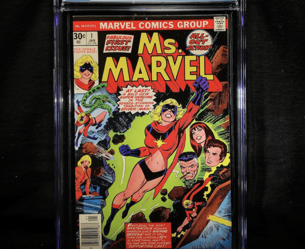 A Ms. Marvel comic book.