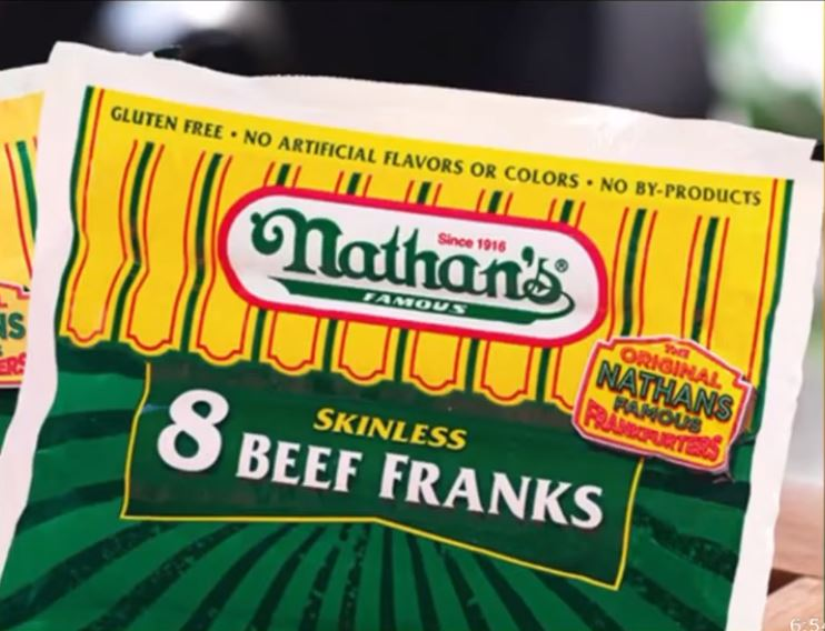Beef franks from Nathan's