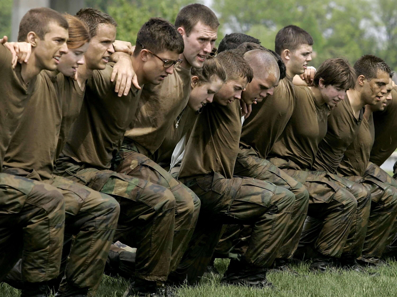 Naval Academy training exercise women
