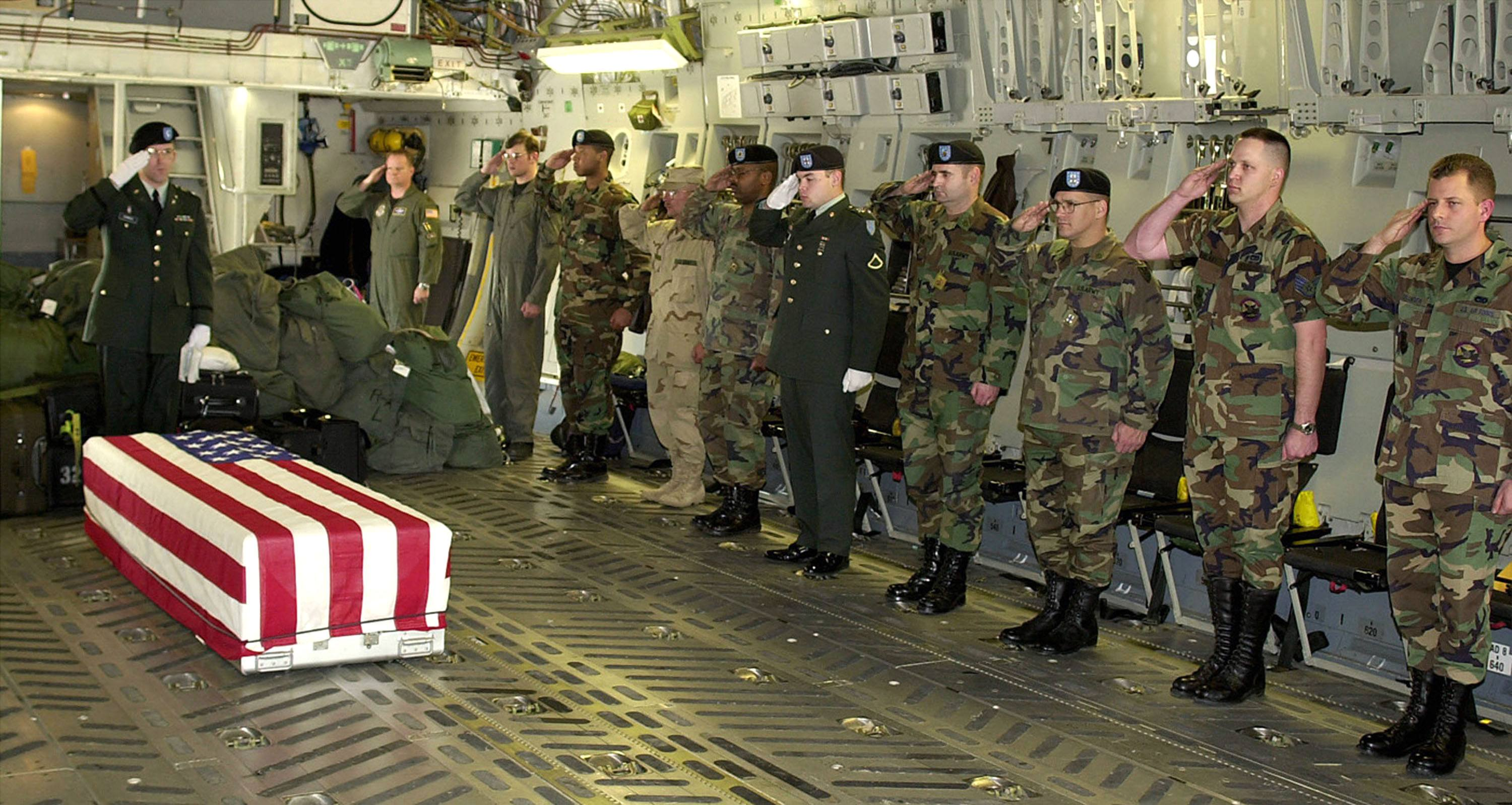 Military Personnel Pay Their Respects To Chief Petty Officer Matthew J Bourgeois 35 Of