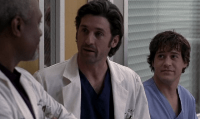 Patrick Dempsey working in the hospital in 'Grey's Anatomy'.