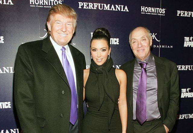 Donald Trump, Kim Kardashian, and Perfumania's Stephen Nussdorf celebrates Kim Kardashian's appearance on 'The Apprentice'