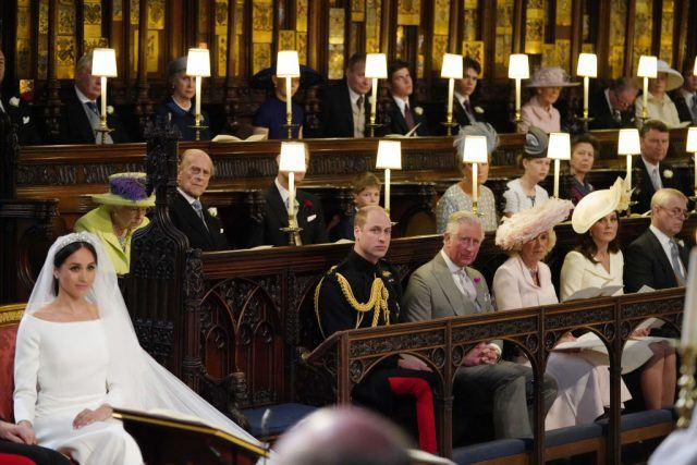 Meghan Markle in St George's Chapel