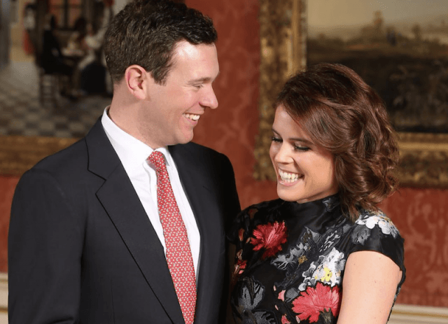 Princess Eugenie smiling in her engagement photo.