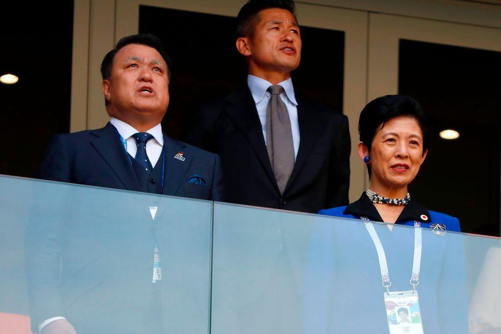 Hisako, Princess Takamado at the world cup in russia