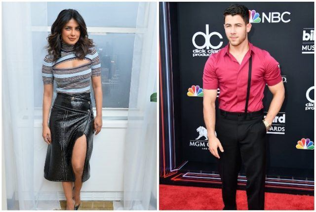 Priyanka Chopra and Nick Jonas collage.