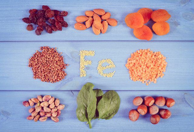 iron and dietary fiber, healthy nutrition