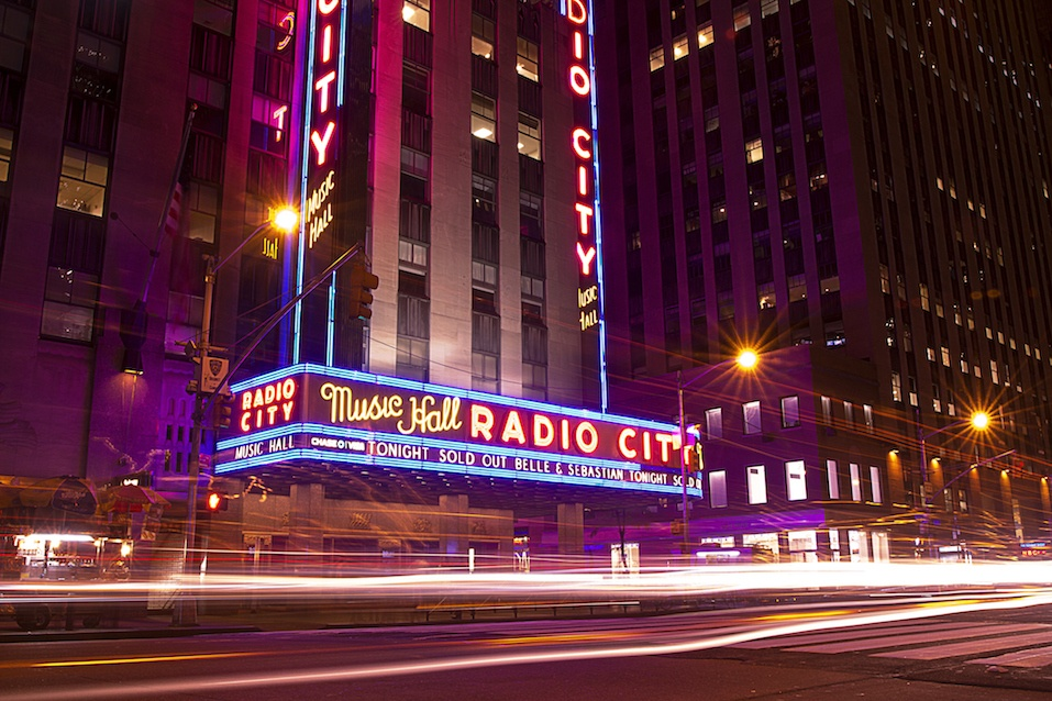 Radio City Music Hall at night time