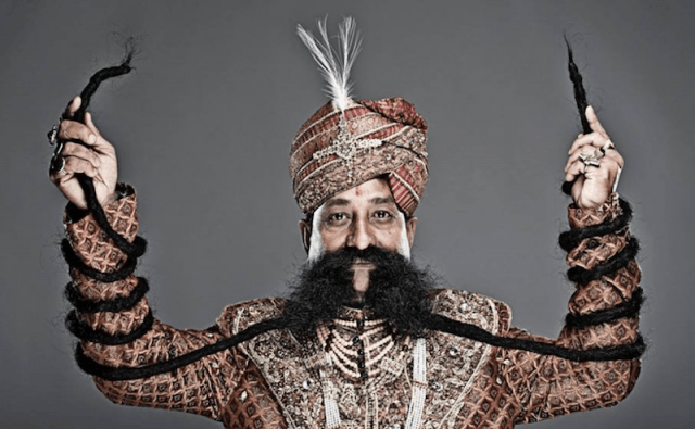 Ram Singh Chauhan and his mustache.