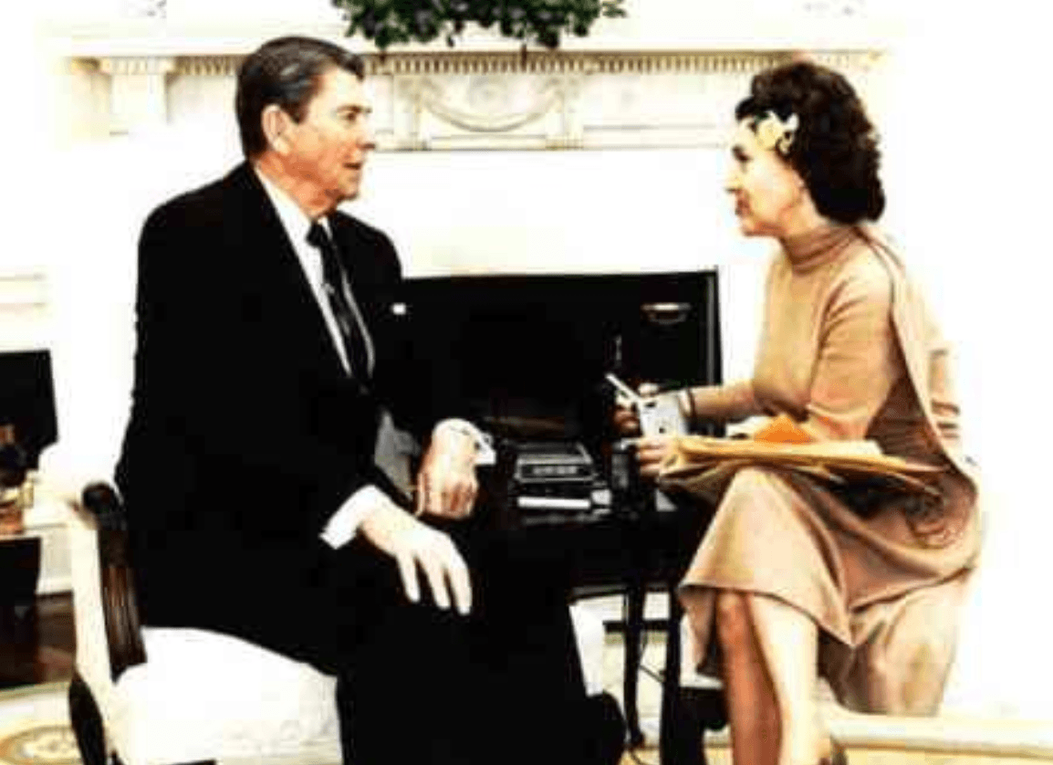 Reagan and Trude Feldman