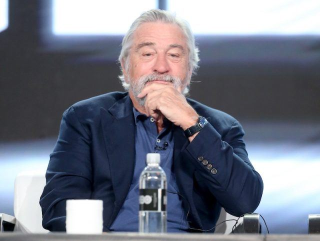 De Niro on stage during a panel.