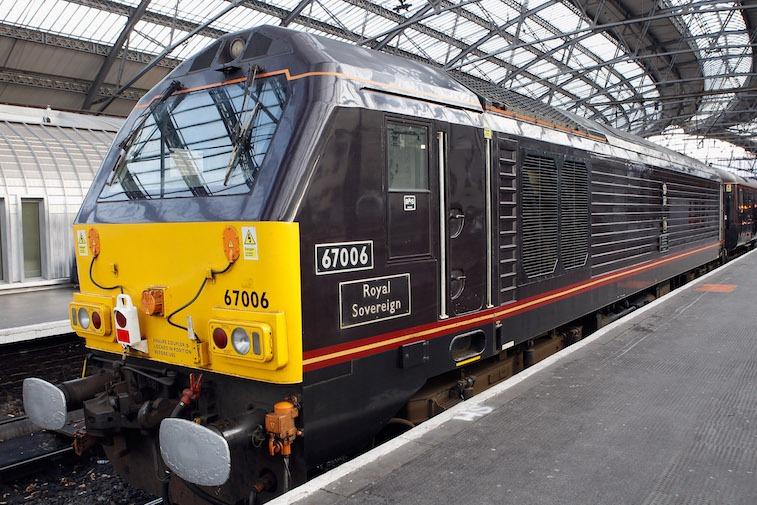 Queen Elizabeth II And The Duke Of Edinburgh Visit Liverpool in the Royal Train