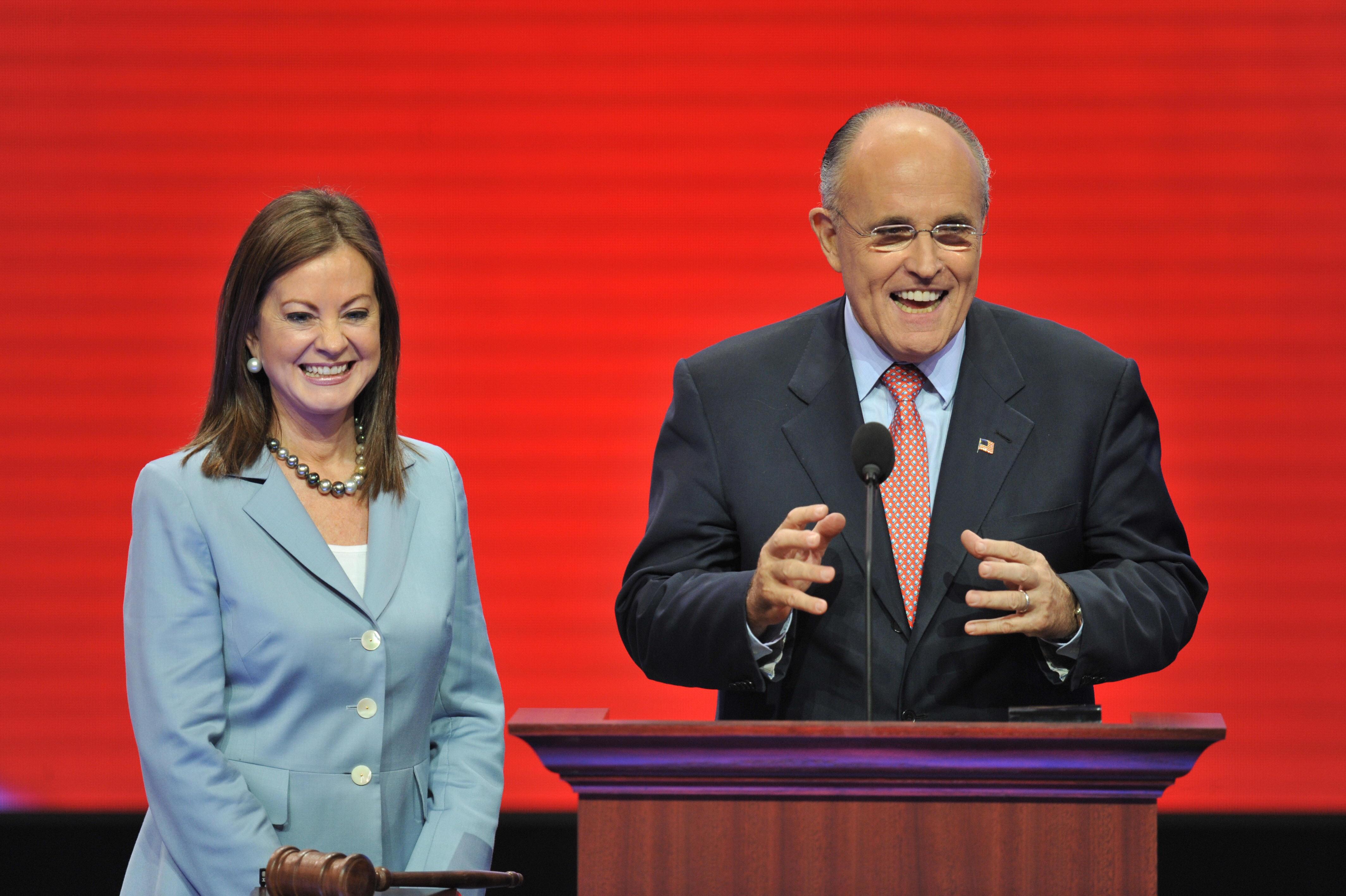 Rudy Giuliani and his wife Judith