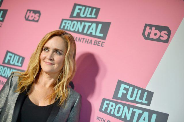 Samantha Bee on a red carpet for TBS.