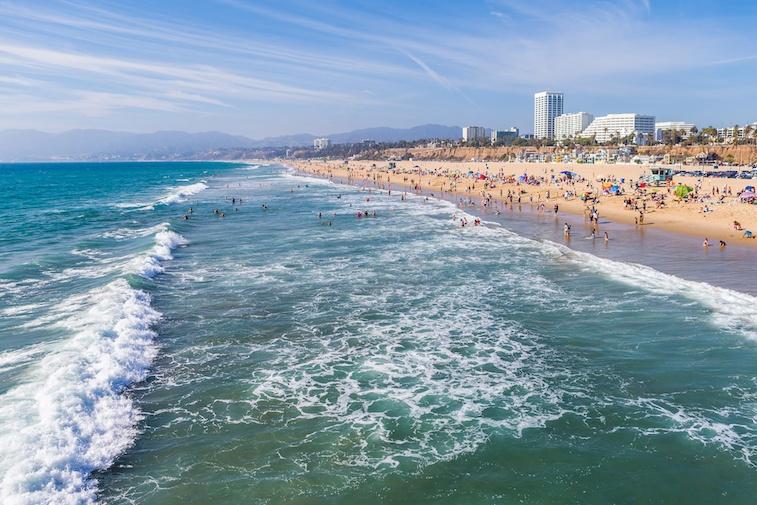 Santa Monica surf, beach