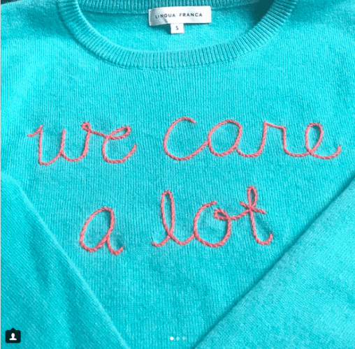 We care sweater