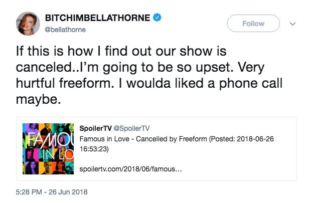 Bella Thorne tweet