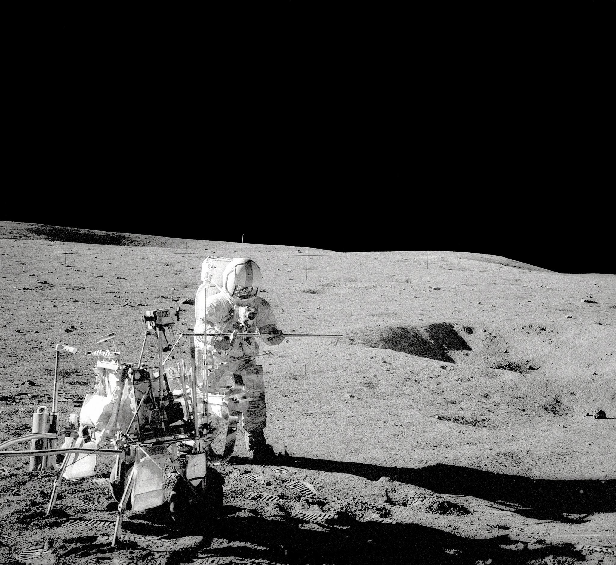 Apollo 14 Commander Alan Shepard playing golf