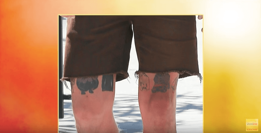 Shia LaBeouf's leg tattoos