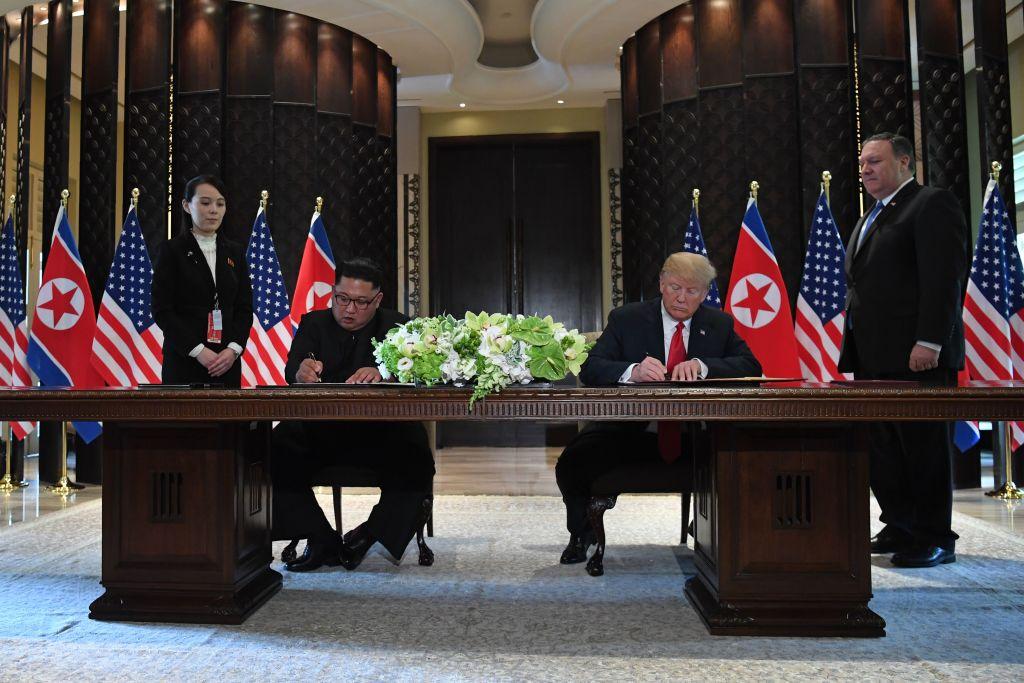 U.S. President Trump Meets North Korean Leader Kim Jong-un During Landmark Summit In Singapore
