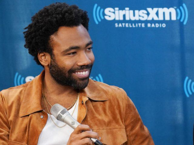Donald Glover takes part in SiriusXM's Town Hall with the cast of Solo: A Star Wars Story
