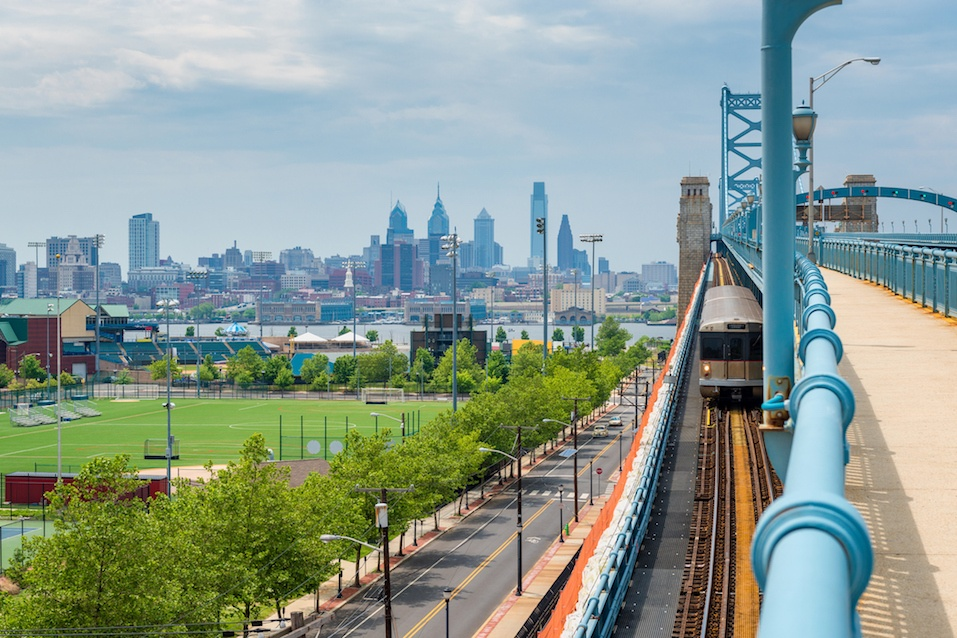 Philadelphia seen from Camden New Jersey