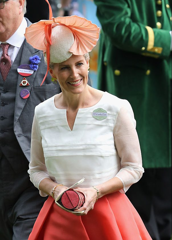Sophie, Countess of Wessex attends the third day of Royal Ascot