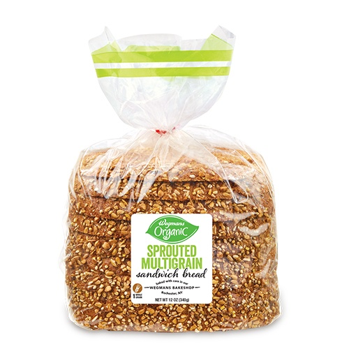 Wegman's Sprouted multigrain bread half loaf