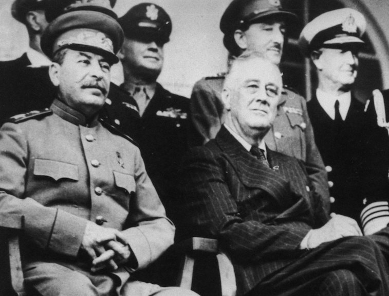 Joseph Stalin, Franklin D. Roosevelt at the Tehran Conference