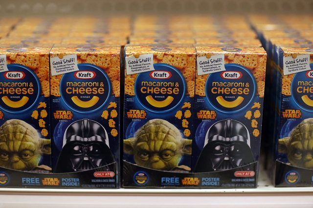 A box of Star Wars Kraft macaroni and cheese
