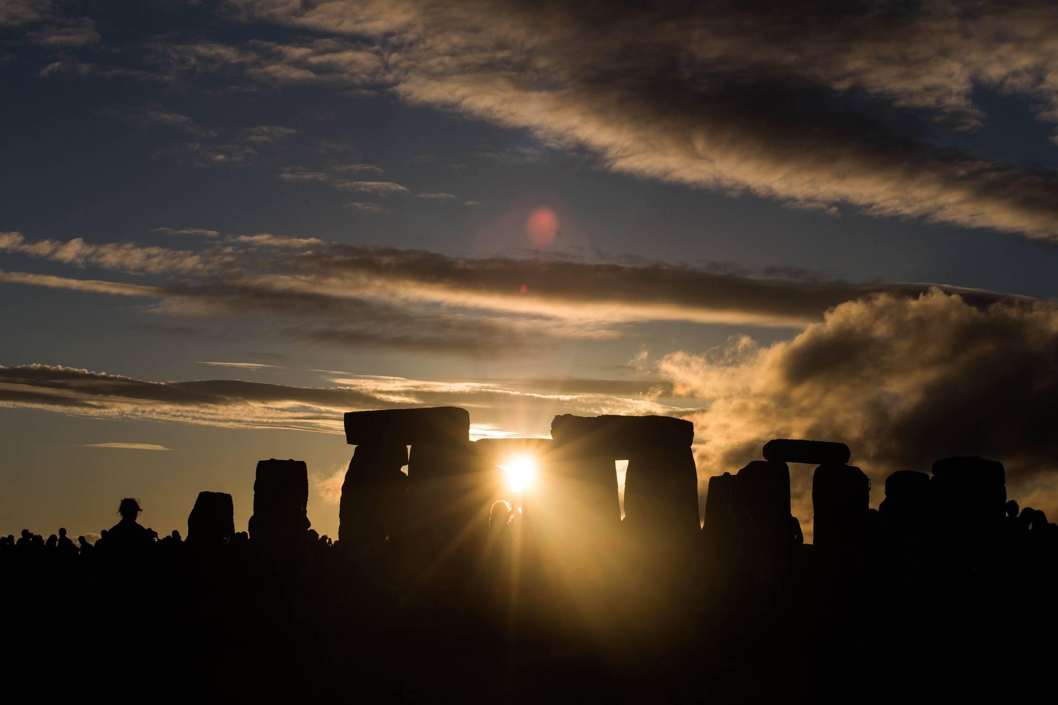 Stone Henge Sunset Summer Solstice
