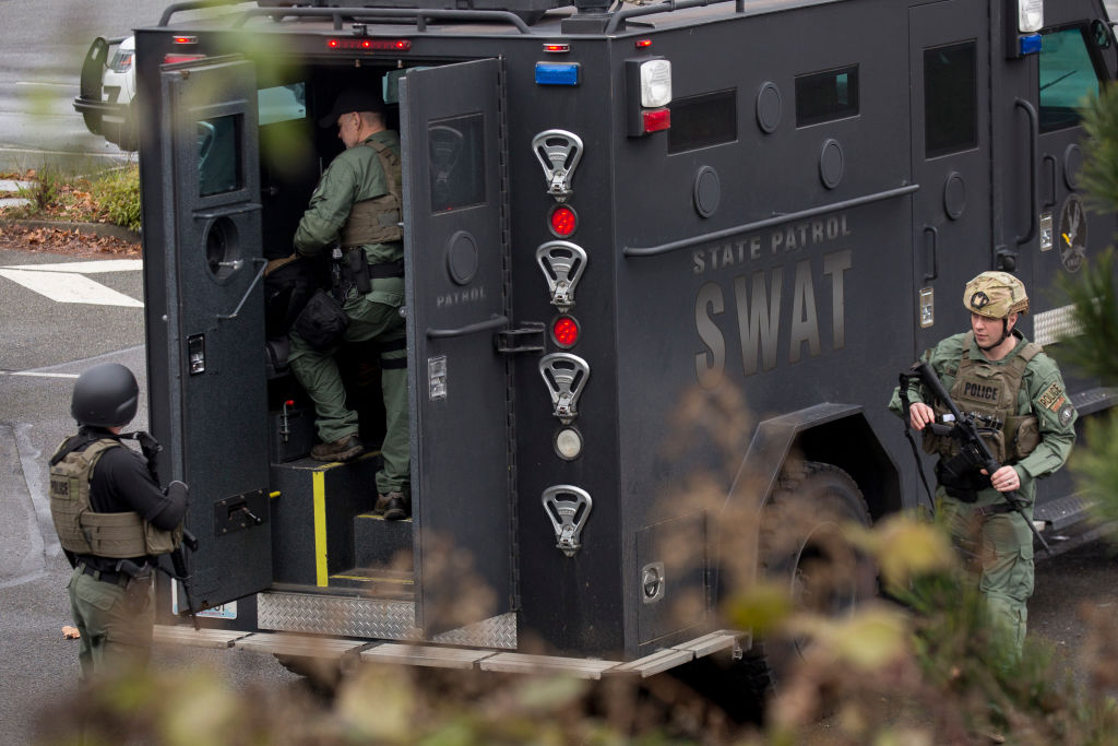 Swat team at Highline College Stands Down After Active Shooter Threat Shuts Down Campus