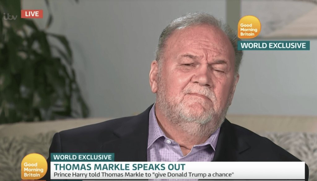 Thomas Markle on 'Good Morning Britain'