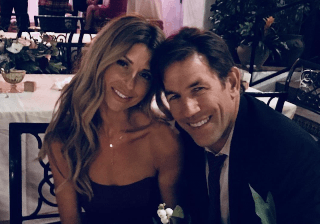 Thomas Ravenel and Ashley Jacobs at a wedding.