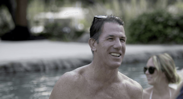 Thomas Ravenel in a pool.