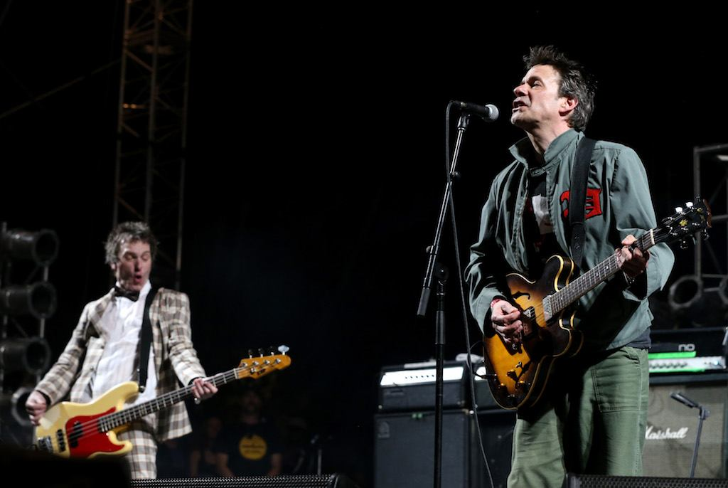 The Replacements' Tommy Stinson and Paul Westerberg perform onstage at Coachella 2014. | Karl Walter/Getty Images for Coachella