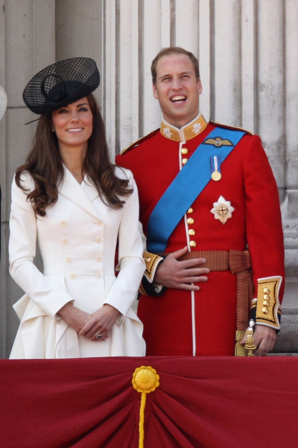Catherine; Duchess of Cambridge and Prince William; Duke of Cambridge join HM Queen Elizabeth II to celebrates her official birthday
