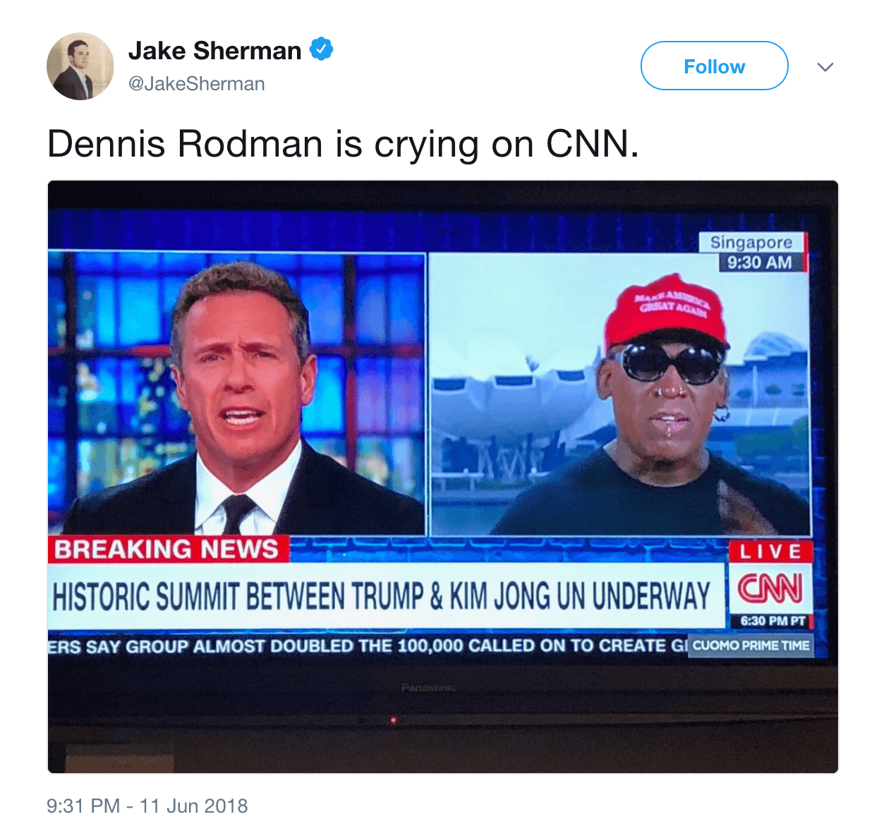 Tweet Dennis Rodman crying