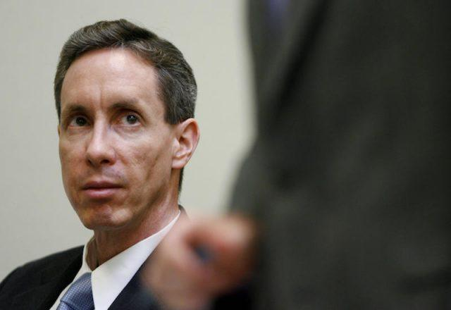 Warren Jeffs sitting in court.