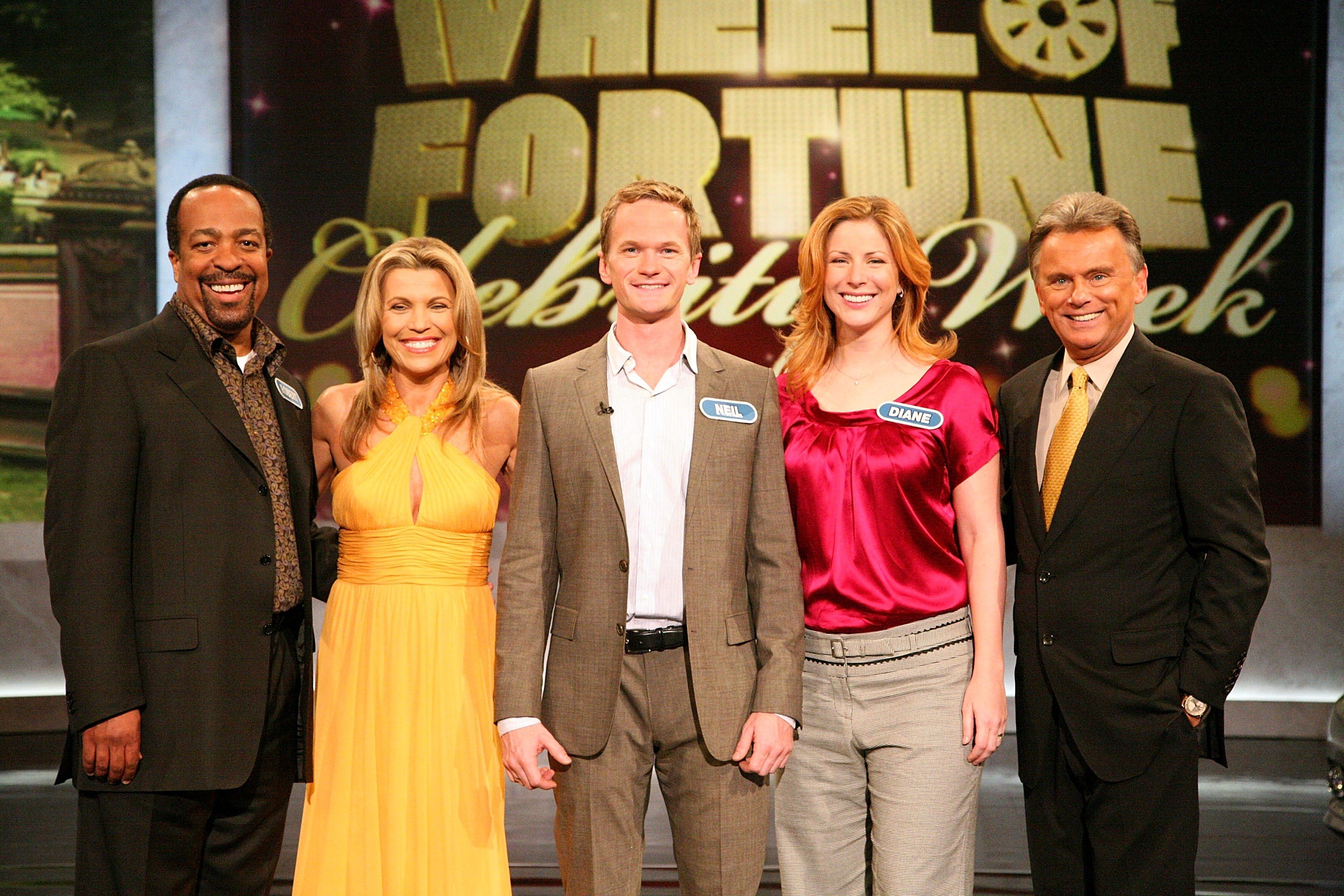 'Wheel Of Fortune' Celebrity Week Pat Sajak and Vanna White