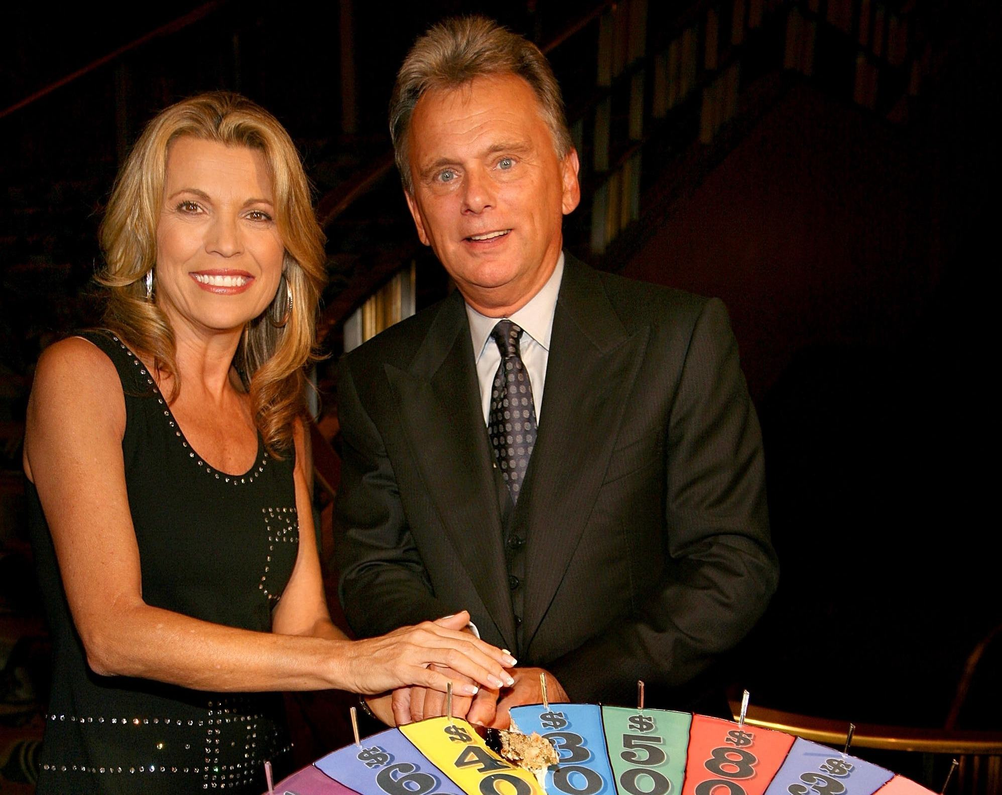 Vanna White and Pat Sajak